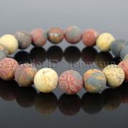 Handmade-10mm-Matte-Frosted-Natural-Gemstones-Round-Beads-Stretchy-Bracelet-371748654789-38c0
