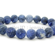 Handmade-10mm-Matte-Frosted-Natural-Gemstones-Round-Beads-Stretchy-Bracelet-371748654789-51ec