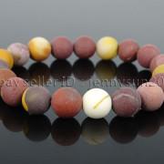 Handmade-10mm-Matte-Frosted-Natural-Gemstones-Round-Beads-Stretchy-Bracelet-371748654789-75d3