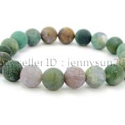 Handmade-10mm-Matte-Frosted-Natural-Gemstones-Round-Beads-Stretchy-Bracelet-371748654789-8616