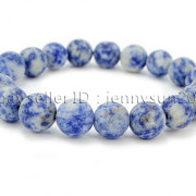 Handmade-10mm-Matte-Frosted-Natural-Gemstones-Round-Beads-Stretchy-Bracelet-371748654789-906a