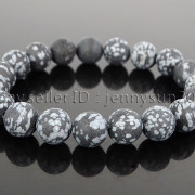 Handmade-10mm-Matte-Frosted-Natural-Gemstones-Round-Beads-Stretchy-Bracelet-371748654789-abe2