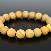 Handmade-10mm-Matte-Frosted-Natural-Gemstones-Round-Beads-Stretchy-Bracelet-371748654789-ed4a
