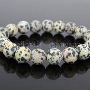 Handmade-10mm-Matte-Frosted-Natural-Gemstones-Round-Beads-Stretchy-Bracelet-371748654789-f376