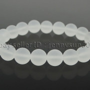 Handmade-10mm-Matte-Frosted-Natural-Gemstones-Round-Beads-Stretchy-Bracelet-371748654789-f775