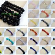 Handmade-10mm-Natural-Gemstone-Round-Beads-Stretchy-Bracelet-Healing-Reiki-261516825719-2
