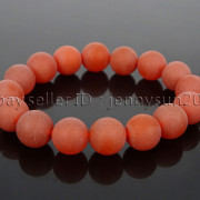 Handmade-12mm-Matte-Frosted-Natural-Gemstones-Round-Beads-Stretchy-Bracelet-371802863865-051c