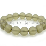 Handmade-12mm-Matte-Frosted-Natural-Gemstones-Round-Beads-Stretchy-Bracelet-371802863865-07a1