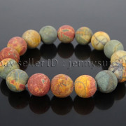 Handmade-12mm-Matte-Frosted-Natural-Gemstones-Round-Beads-Stretchy-Bracelet-371802863865-0f83