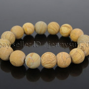Handmade-12mm-Matte-Frosted-Natural-Gemstones-Round-Beads-Stretchy-Bracelet-371802863865-1b37
