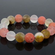 Handmade-12mm-Matte-Frosted-Natural-Gemstones-Round-Beads-Stretchy-Bracelet-371802863865-26d1