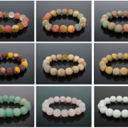 Handmade-12mm-Matte-Frosted-Natural-Gemstones-Round-Beads-Stretchy-Bracelet-371802863865-3