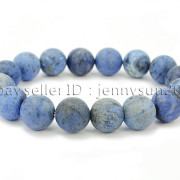 Handmade-12mm-Matte-Frosted-Natural-Gemstones-Round-Beads-Stretchy-Bracelet-371802863865-37ee