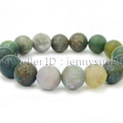 Handmade-12mm-Matte-Frosted-Natural-Gemstones-Round-Beads-Stretchy-Bracelet-371802863865-4a08