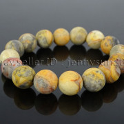 Handmade-12mm-Matte-Frosted-Natural-Gemstones-Round-Beads-Stretchy-Bracelet-371802863865-4dee