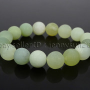 Handmade-12mm-Matte-Frosted-Natural-Gemstones-Round-Beads-Stretchy-Bracelet-371802863865-5264