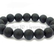 Handmade-12mm-Matte-Frosted-Natural-Gemstones-Round-Beads-Stretchy-Bracelet-371802863865-56c1