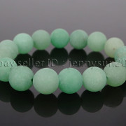 Handmade-12mm-Matte-Frosted-Natural-Gemstones-Round-Beads-Stretchy-Bracelet-371802863865-600c