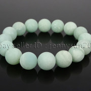 Handmade-12mm-Matte-Frosted-Natural-Gemstones-Round-Beads-Stretchy-Bracelet-371802863865-6cc9