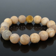 Handmade-12mm-Matte-Frosted-Natural-Gemstones-Round-Beads-Stretchy-Bracelet-371802863865-7a7e