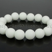 Handmade-12mm-Matte-Frosted-Natural-Gemstones-Round-Beads-Stretchy-Bracelet-371802863865-849a