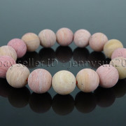 Handmade-12mm-Matte-Frosted-Natural-Gemstones-Round-Beads-Stretchy-Bracelet-371802863865-aa36