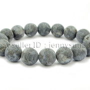 Handmade-12mm-Matte-Frosted-Natural-Gemstones-Round-Beads-Stretchy-Bracelet-371802863865-acda