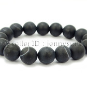 Handmade-12mm-Matte-Frosted-Natural-Gemstones-Round-Beads-Stretchy-Bracelet-371802863865-ce9b
