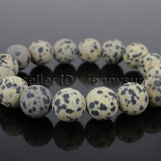 Handmade-12mm-Matte-Frosted-Natural-Gemstones-Round-Beads-Stretchy-Bracelet-371802863865-d06c