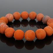 Handmade-12mm-Matte-Frosted-Natural-Gemstones-Round-Beads-Stretchy-Bracelet-371802863865-faf2