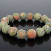 Handmade-12mm-Matte-Frosted-Natural-Gemstones-Round-Beads-Stretchy-Bracelet-371802863865-fd70
