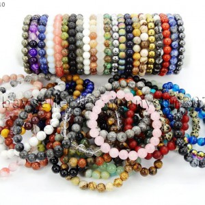 Handmade-8mm-Mixed-Natural-Gemstone-Round-Beads-Stretchy-Bracelet-Healing-Reiki-281374615131