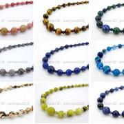 Handmade-Natural-Gemstone-Beads-412mm-Graduated-Adjustable-Necklace-Healing-282029478645-3