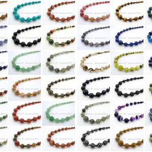 Handmade-Natural-Gemstone-Beads-412mm-Graduated-Adjustable-Necklace-Healing-282029478645