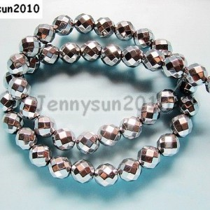 Hematite-Gemstone-Faceted-Round-Ball-Beads-16-Silver-2mm-3mm-4mm-6mm-8mm-10mm-261172471503