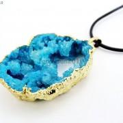 Large-Natural-Druzy-Quartz-Agate-Geode-Sliced-Pendant-Charm-Beads-Gold-Necklace-261851410079-39ee
