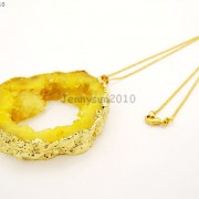 Large-Natural-Druzy-Quartz-Agate-Geode-Sliced-Pendant-Charm-Beads-Gold-Necklace-261851410079-3d94