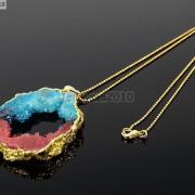 Large-Natural-Druzy-Quartz-Agate-Geode-Sliced-Pendant-Charm-Beads-Gold-Necklace-261851410079-8607