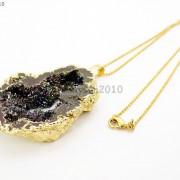 Large-Natural-Druzy-Quartz-Agate-Geode-Sliced-Pendant-Charm-Beads-Gold-Necklace-261851410079-a178