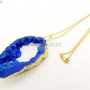Large-Natural-Druzy-Quartz-Agate-Geode-Sliced-Pendant-Charm-Beads-Gold-Necklace-261851410079-dca1