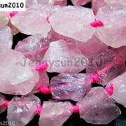 Large-Rough-Natural-15mm-30mm-Clear-Rose-Quartz-Gemstone-Baroque-Beads-16-261067719513-3
