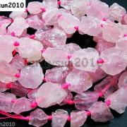 Large-Rough-Natural-15mm-30mm-Clear-Rose-Quartz-Gemstone-Baroque-Beads-16-261067719513-4