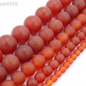 Matte-Red-Natural-Carnelian-Agate-Gemstone-Round-Beads-155-4mm-6mm-8mm-10mm-370776253661