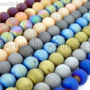 Metallic-Titanium-Coated-Druzy-Quartz-Agate-Gemstones-Round-Beads-15-8mm-10mm-262198159740-3