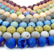 Metallic-Titanium-Coated-Druzy-Quartz-Agate-Gemstones-Round-Beads-15-8mm-10mm-262198159740-4
