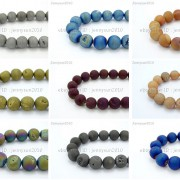 Metallic-Titanium-Coated-Druzy-Quartz-Agate-Gemstones-Round-Beads-15-8mm-10mm-262198159740-6