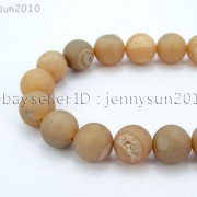 Metallic-Titanium-Coated-Druzy-Quartz-Agate-Gemstones-Round-Beads-15quot-8mm-10mm-262198159740-44df