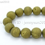 Metallic-Titanium-Coated-Druzy-Quartz-Agate-Gemstones-Round-Beads-15quot-8mm-10mm-262198159740-7df1