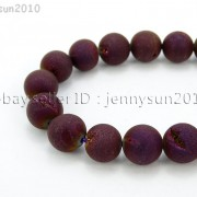 Metallic-Titanium-Coated-Druzy-Quartz-Agate-Gemstones-Round-Beads-15quot-8mm-10mm-262198159740-f7ff