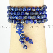 Natural-6mm-Gemstone-Buddhist-108-Beads-Prayer-Mala-Stretchy-Bracelet-Necklace-371631549219-1915